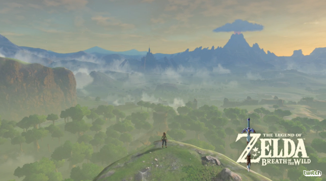 The Legend of Zelda: Breath of the Wild overworld size high view beautiful Hyrule