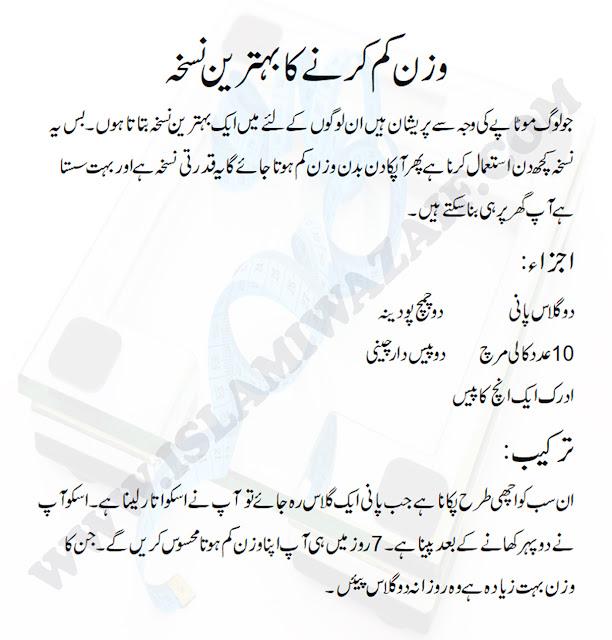 Weight Loss Tips In Urdu In 1 Week