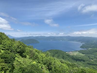 有珠山から見た洞爺湖
