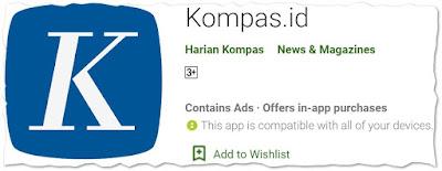 Aplikasi Android Kompas.id