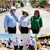 Beneficia Gobernadora a habitantes de Magdalena y Santa Ana con obras de pavimentación, alcantarillado, vivienda y transporte escolar