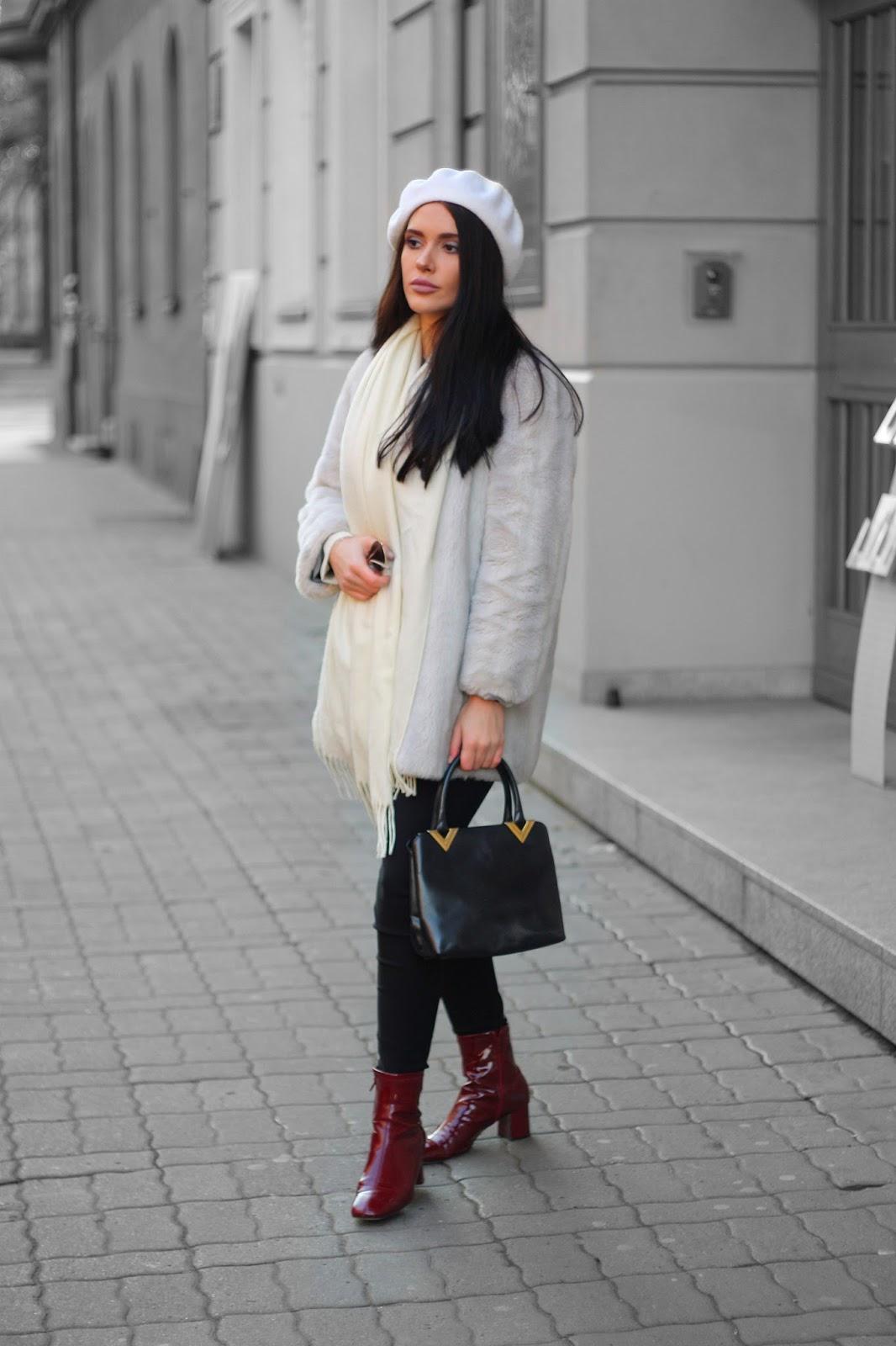 jak nosić beret, beret jak nosić, jak założyć beret, biały beret, white beret