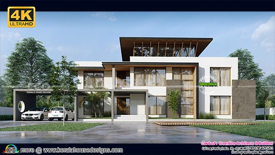 Luxury 5 BHK minimalist box model home