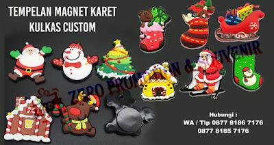Custom kulkas magnet grosir natal, Souvenir Natal Tempelan Kulkas, tempelan kulkas karet kustom, souvenir Magnet kulkas 3D