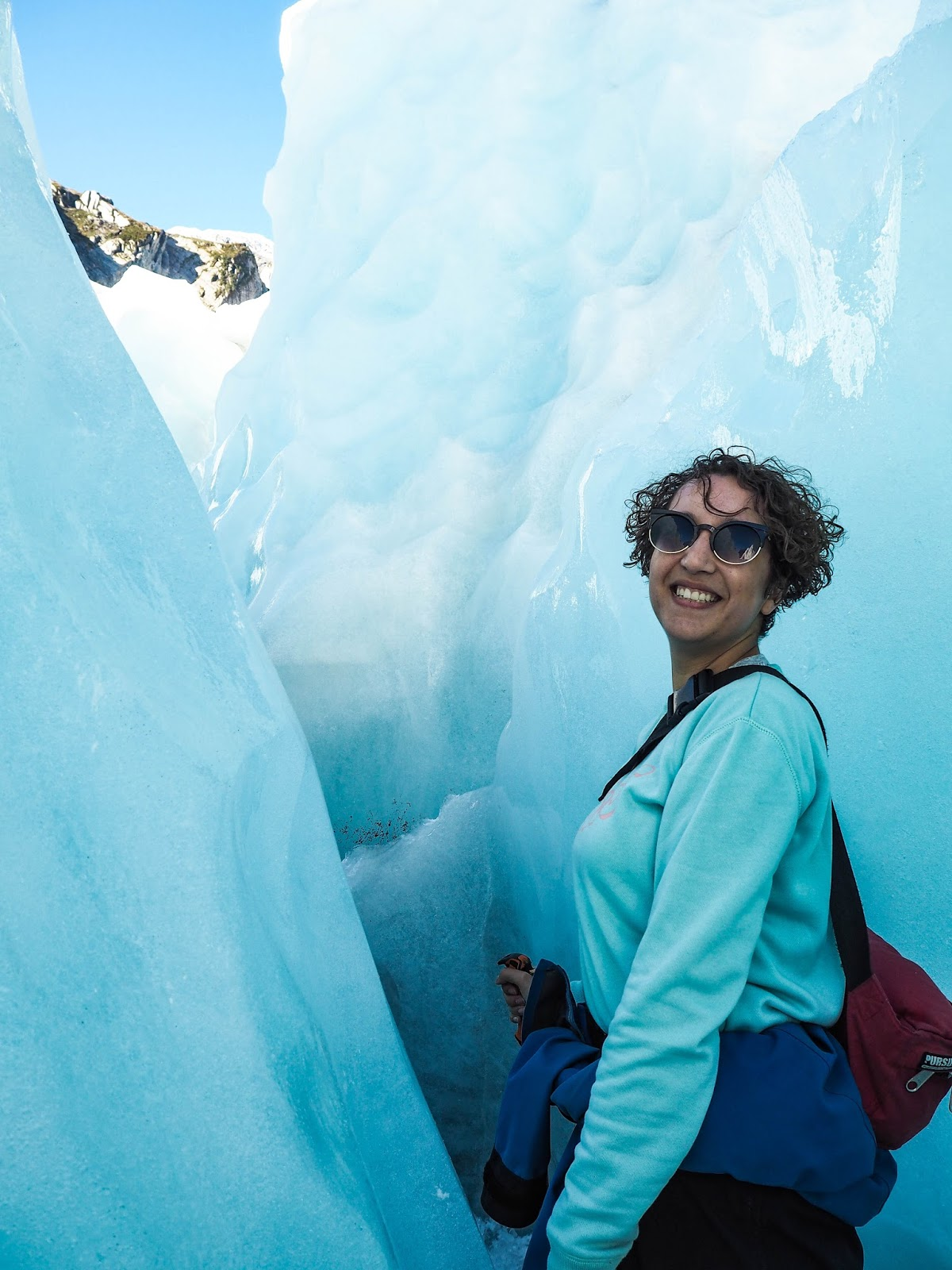 Inside crevasse on Franz Josef glacier