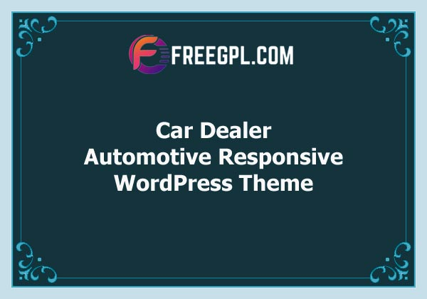 Car Dealer – Automotive Responsive WordPress Theme Free Download