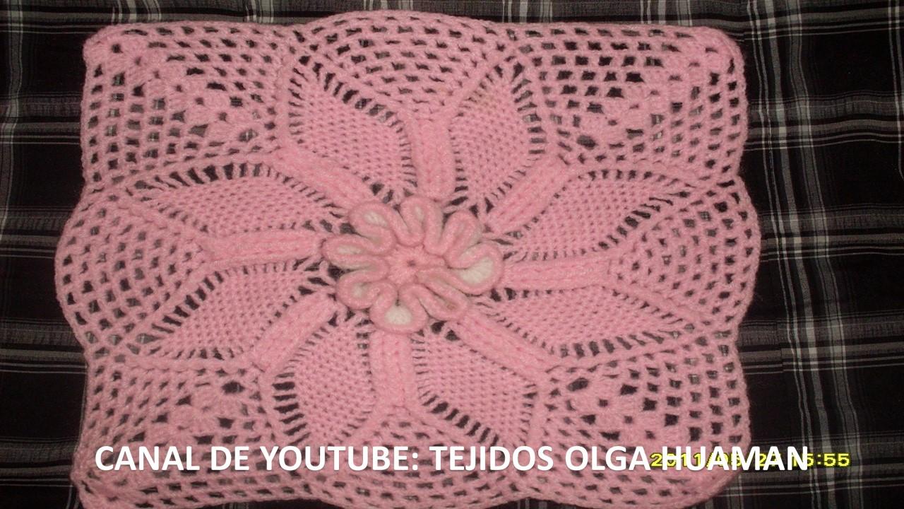 Tejidos olga huaman cuadro tejido a crochet para colcha - Colchas ganchillo bebe ...