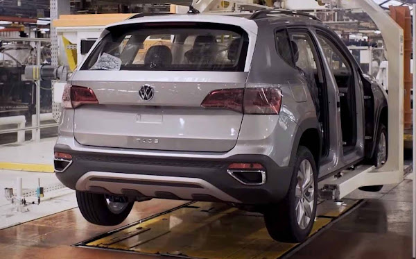 Volkswagen Taos: fotos do SUV na linha de montagem na Argentina - vídeo
