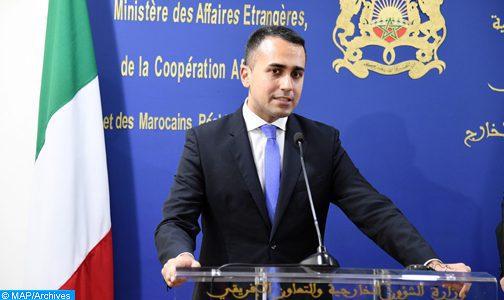 وزير الخارجية الإيطالي يشيد بدينامية الانفتاح والتقدم والتحديث التي يقودها جلالة الملك محمد السادس