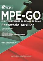 Apostila MP GO 2017 Secretário Auxiliar