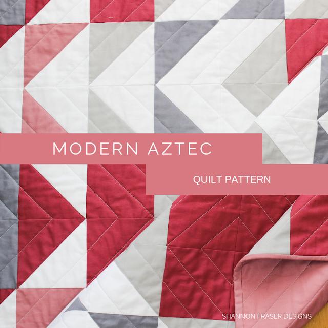 Modern Aztec Quilt Pattern | Shannon Fraser Designs