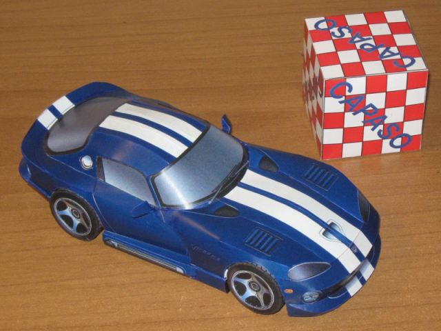1993 Dodge Viper GTS Coupe Paper Model. The Dodge Viper Sports Car ...