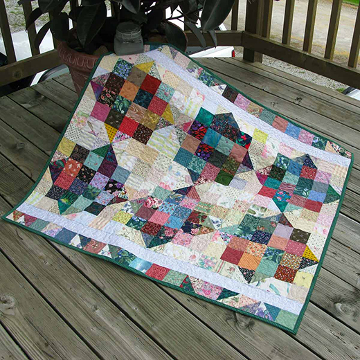 River Scraps Baby Quilt Designed By Connie Kresin Campbell of Freemotion by the River