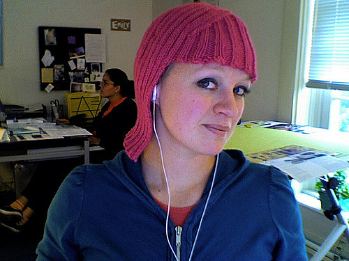 Hand knit wig for Halloween, comic con or a simple game of dress-up