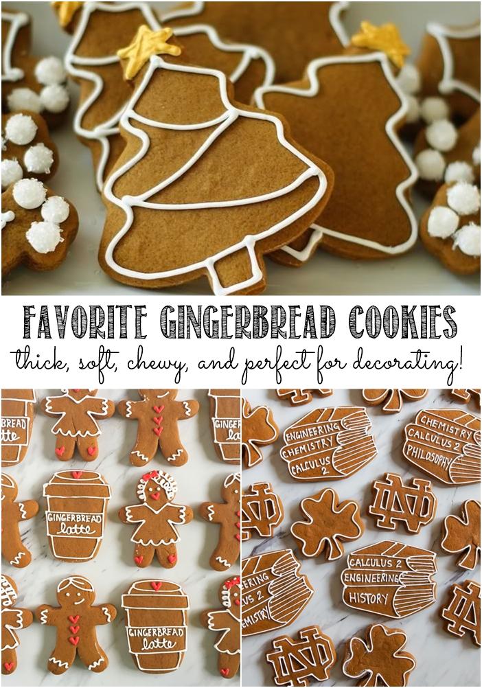 favorite gingerbread cookies for decorating