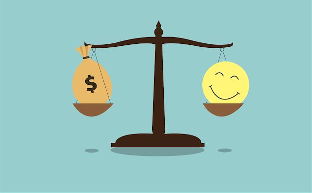 العلاقة بين المال والسعادة