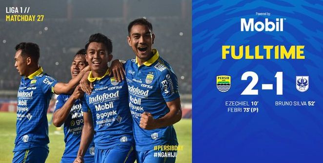 Persib Bandung Menang 2-1 atas PSIS Semarang