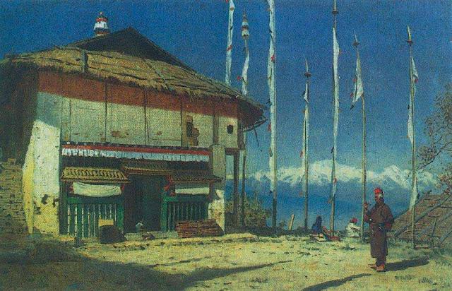 Василий Васильевич Верещагин - Буддийский храм а Дарджилинге. Сикким. 1874