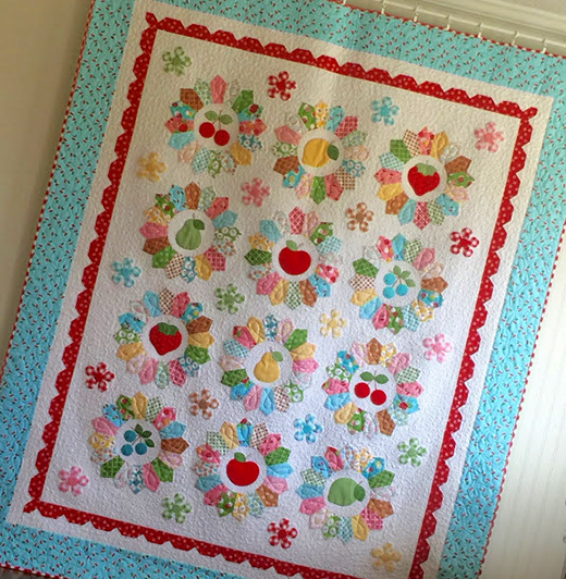 Sweetie Pie Quilt made by Lori Holt of Bee in my Bonnet, The Pattern designed by Riley Blake Designs