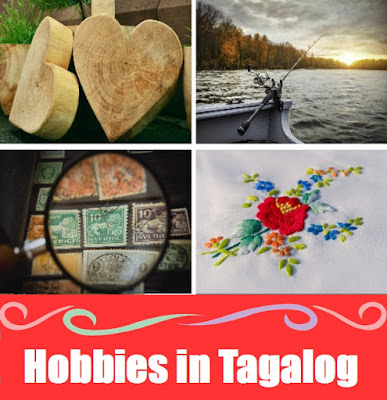 Hobbies Word List in Tagalog