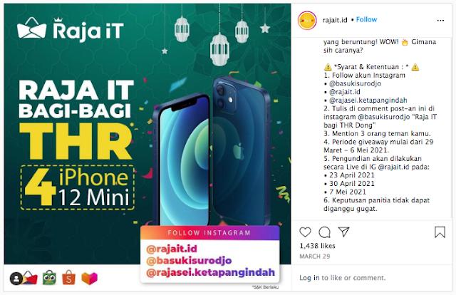 giveaway THR Raja iT iPhone 12