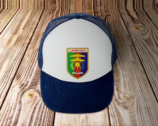 desain topi lambang logo provinsi lampung - kanalmu