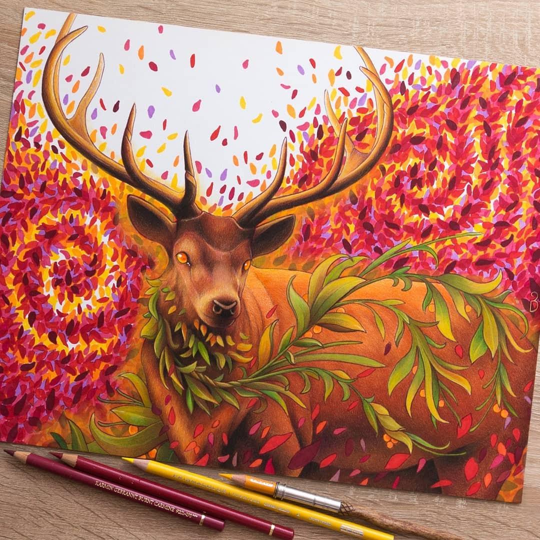 10-Deer-Łukasz-Andrzejczak-Fantasy-Art-and-Animals-www-designstack-co