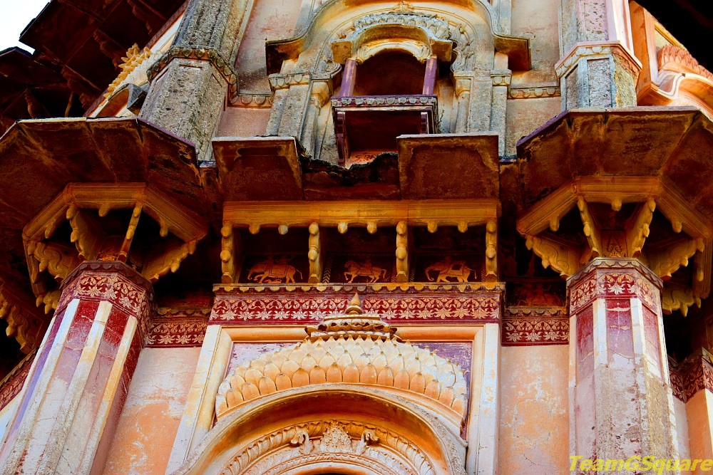 Painted Walls of Laxmi Temple, Orchha