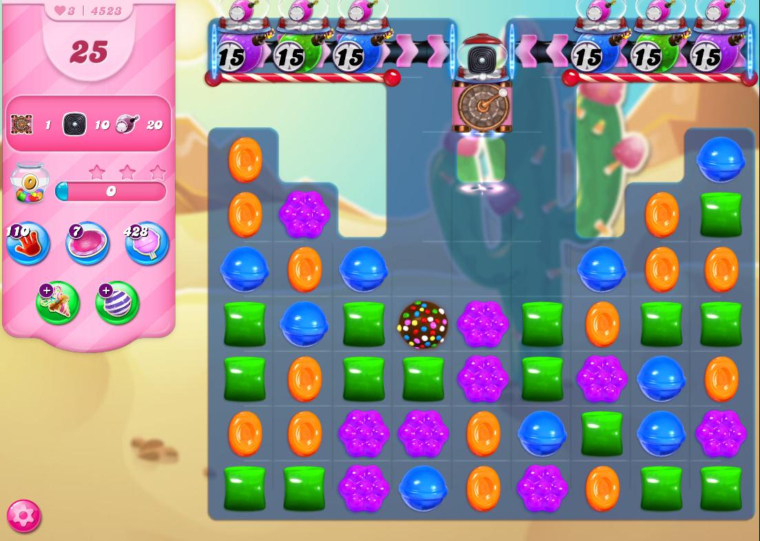 Candy Crush Saga level 4523