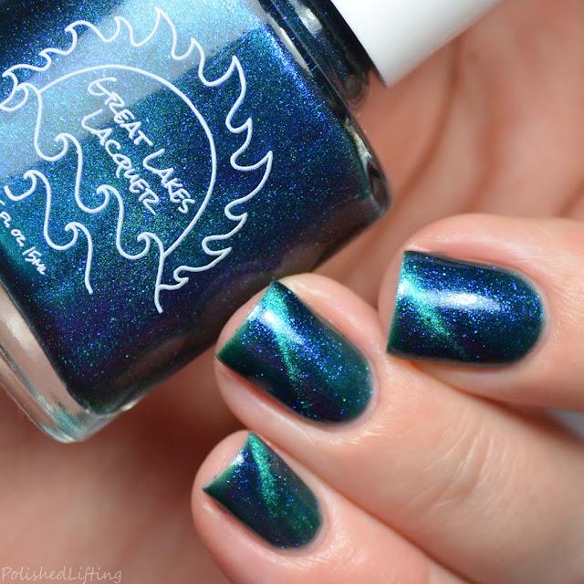 teal magnetic nail polish