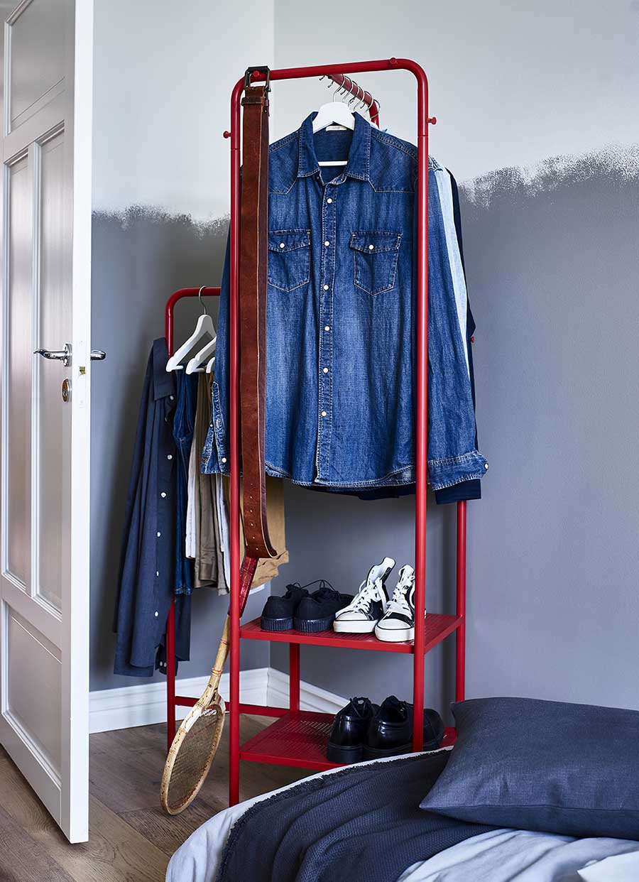 catálogo ikea 2020 dormitorio novedad burro rojo ropa