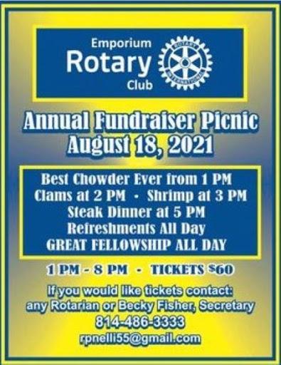 8-18 Emporium Rotary Club Annual Fundraiser