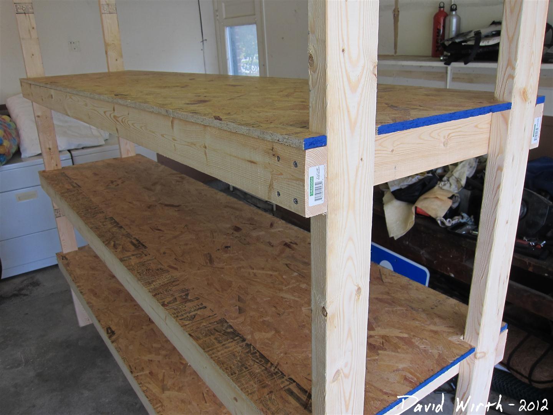 Wood Storage Shelves Plans