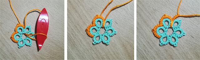 Join, Double Join and Lock Join in shuttle tatting - Unione, Doppia Unione e Unione Bloccata nel chiacchierino a navetta