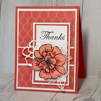 Thank You card using To A Wild Rose Stamp Set