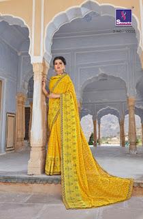 Shangrila aarohi chiffon printed saree