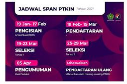 Prodi SPAN PTKIN 2021 dan Jadwal Pendaftaran SPAN PTKIN 2021