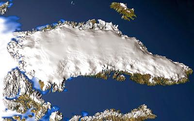 Groelândia vista do espaço