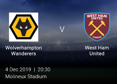 LIVE MATCH: Wolves Vs West Ham United Premier League 23/11/2019