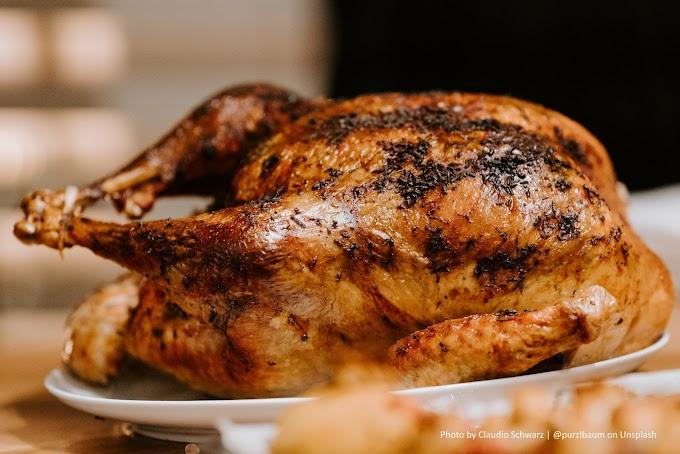 Macarrão com frango assado