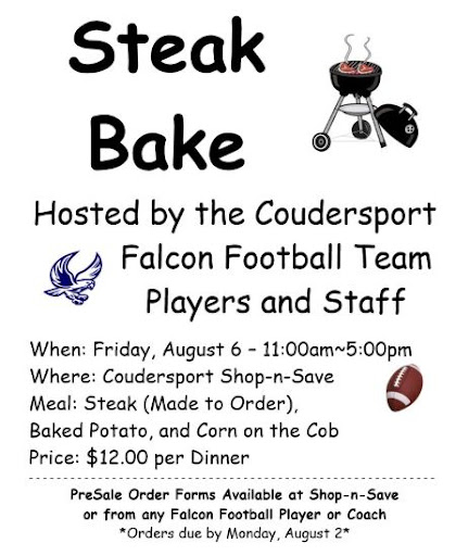 8-6 Falcon Football Team Steak Bake