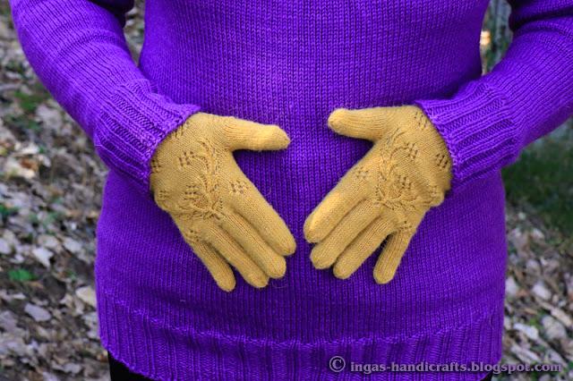 Põdrasarve mustriga sõrmikud / Gloves