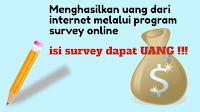 Menghasilkan Uang Dari Internet Melalui Survey Online