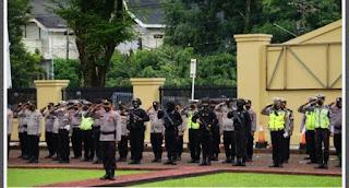 Pasca Kejadian Ledakan Bom Bunuh diri di Makassar Polres Maros Terjunkan Intelijen Dan Personil Bersenjata
