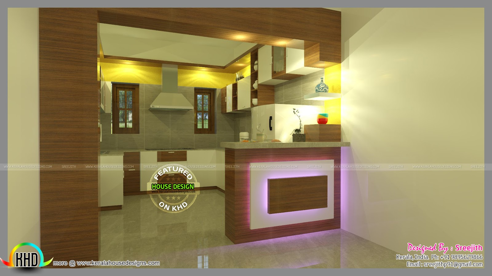 Latest Front Elevation Design : Modular kitchen design trends kerala home