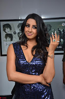 Sanjana looks happy in sparkling short Deep neck Purple Gown ~  Exclusive 34.JPG