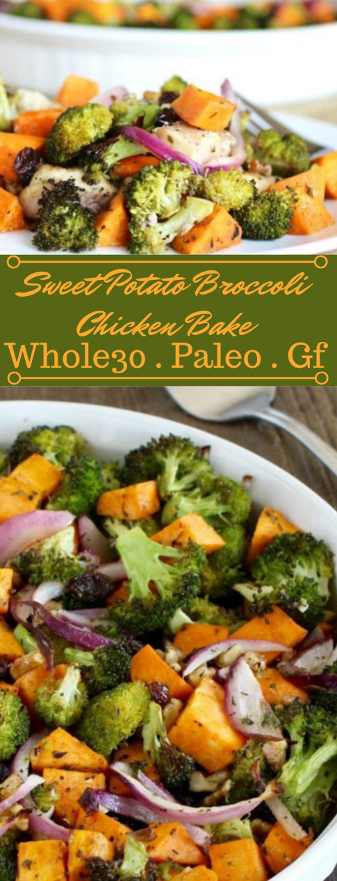 Sweet Potato Broccoli Chicken Bake #vegetarian #healthy #easy #broccoli #potato