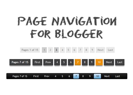Cara Membuat Navigasi Halaman Blog dengan Nomor