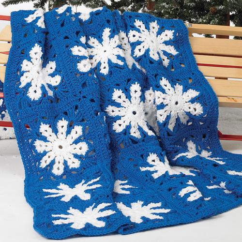 Icy Snowflake Afghan - Free Pattern