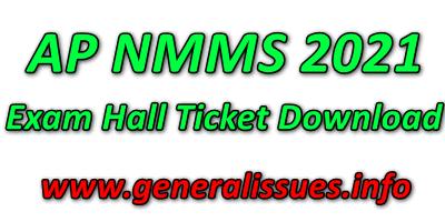 AP NMMS Exam Hall Ticket 2021 Download